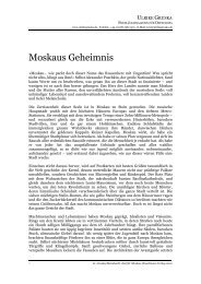 Moskaus Geheimnis (pdf) - Ulrikegruska.de