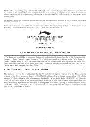 Announcement - Li Ning
