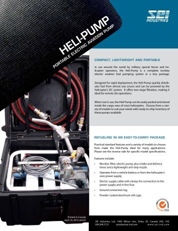 Heli-Pump Brochure - SEI Industries Ltd.