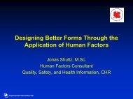 Human Factors and Form Development - Communities of Practice
