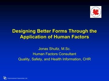 Human Factors and Form Development - Communities of Practice