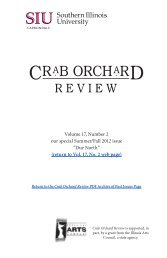 Crab Orchard Review Vol. 17, No. 2, our special issue