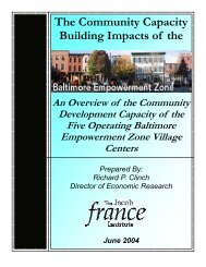 The Community Capacity Building Impacts of The Baltimore ...