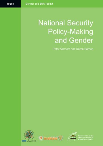 Tool 8-National Security Policy-Making and Gender ... - ISSAT - DCAF
