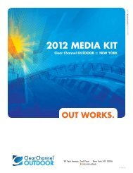 2012 media KiT - Clear Channel Outdoor