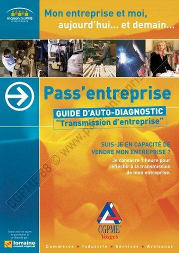 transmission d'entreprise - Pass'Entreprise