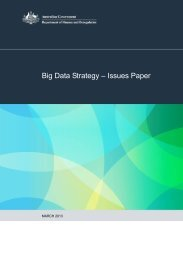 Big Data Strategy – Issues Paper - About AGIMO