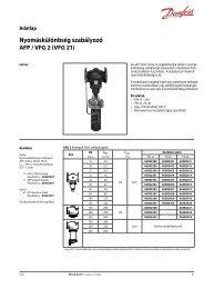 Nyomáskülönbség szabályozó AFP / VFG 2 (VFG 21)