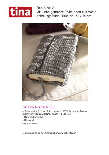 Tolle Ideen aus Wolle Anleitung: Buch-Hülle, ca. 27 x ... - Wunderweib