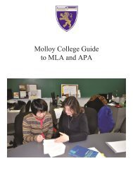 Molloy College Guide to MLA and APA