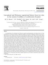 Late-glacial and Holocene vegetational history from ... - Union College