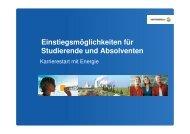 Einstiegsmöglichkeiten für Studierende und Absolventen - FGE