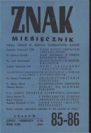 lipiec-sierpień, 1961 rok - Znak