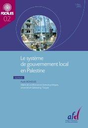 Le système de gouvernement local en Palestine - Agence Française ...