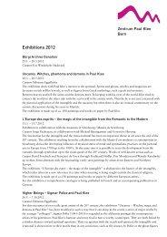 Exhibitions 2012 - Zentrum Paul Klee