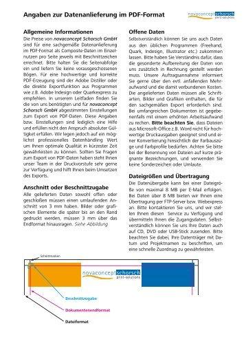 Angaben zur Datenanlieferung im PDF-Format