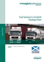 Fuel Saving in a Scottish Haulage Fleet - Transport Scotland