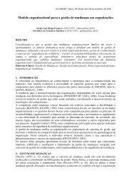 Modelo organizacional para a gestão de mudanças em ... - Simpep
