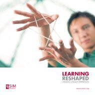 Download Annual Report 2008 (PDF) - SIM University