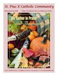 November 18 - St. Pius X Catholic Community