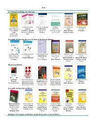 Une sélection de livres pour progresser nouvelle ... - Claire Bridge