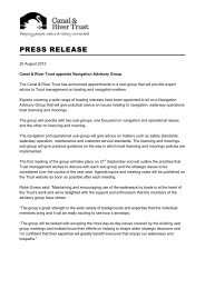 Read the full press release - Canal & River Trust