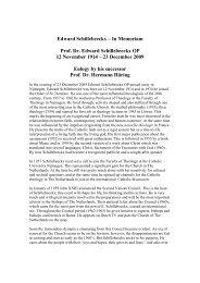 Edward Schillebeeckx – In Memoriam Prof. Dr ... - Wir sind Kirche