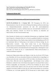Neue Nachrichten zur Entwicklung des Wirkstoffs PTC124