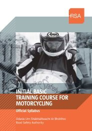 INITIAL BASIC TRAINING COURSE FOR MOTORCYCLING - RSA.ie