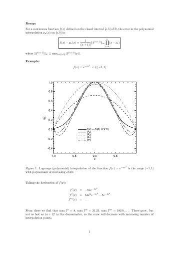 3. Lagrange Polynomial Interpolation: Example