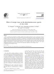 Effect of isotopic mass on the photoluminescence spectra of ... - UPV