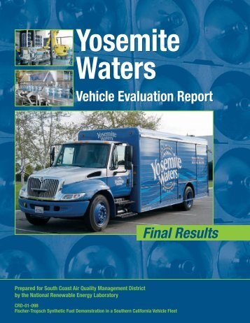 Yosemite Waters Vehicle Evaluation Report: Final Results (Brochure)
