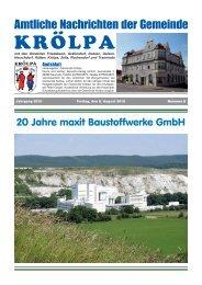 August 2010 - Gemeinde Krölpa
