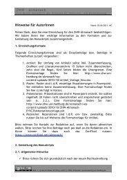 ZHW – Almanach Hinweise für AutorInnen - ZHW - Universität ...