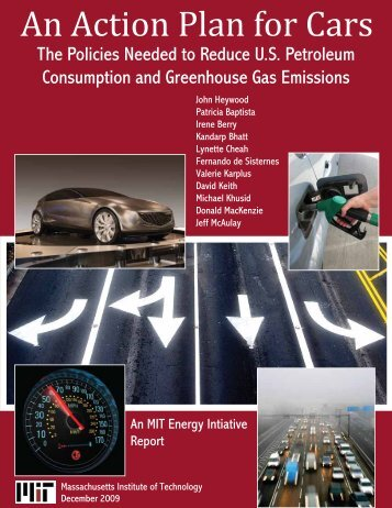 An Action Plan for Cars - MIT Energy Initiative