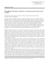 Hypoplastic left heart syndrome: consensus and controversies in 2007