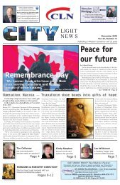 Peace for our future - City Light News