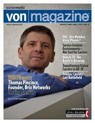 VON Magazine - March/April 2008 - e4 Technologies