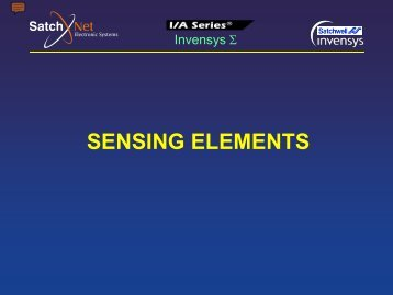 1- Sensing Elements - SatchNet Electronic Systems