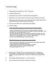 Checkliste für Anträge - bei Leader im Aller-Leine-Tal