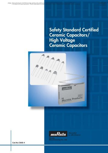 Safety Standard Certified Ceramic Capacitors/High Voltage ... - Murata