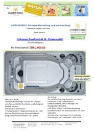 AquaSport AS14 inkl. Thermoabdeckung! - Hydropool-Whirlpools.de