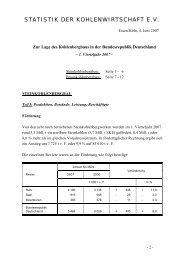 STATISTIK DER KOHLENWIRTSCHAFT E.V.