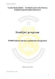 P3908 Požární ochrana a průmyslová bezpečnost - od 7/2005 - FBI