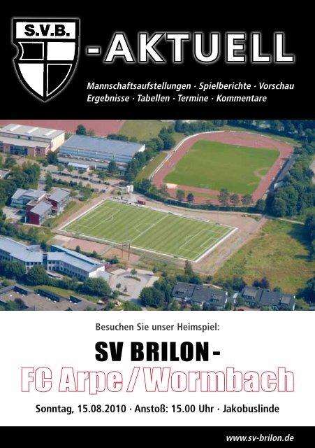 1. Ausgabe 2010/2011 von SVB-aktuell als - SV 20 Brilon