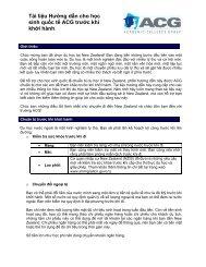 Tài liệu Hướng dẫn cho học sinh quốc tế ACG trước khi khởi hành