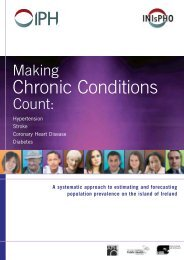 Making chronic conditions count - Institute of Public Health in Ireland
