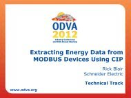 Extracting Energy Data from MODBUS Devices Using CIP - ODVA