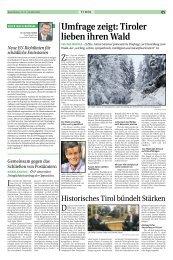 Umfrage zeigt: Tiroler lieben ihren Wald - Tiroler Bauernbund