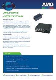 AMG1000 series Passive IP Extenders